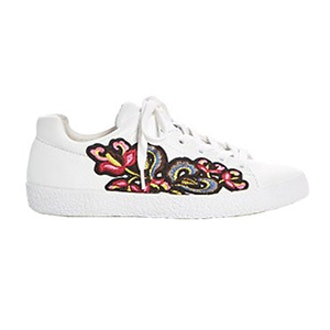 Nak Applique Embellished Lace Up Sneakers