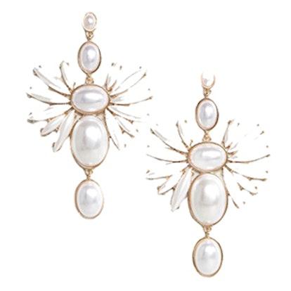 Faux Pearl Statement Earrings