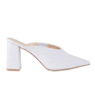 Pinkie Pointed Heeled Mules