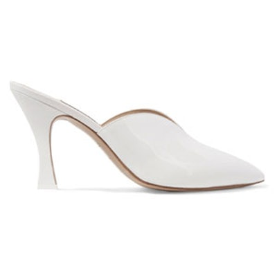 Monica Patent-Leather Mules