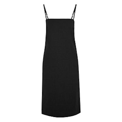 Cotton-Blend Crepe Midi Dress