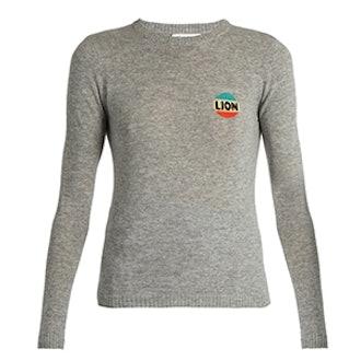 Lion Cashmere-Blend Sweater