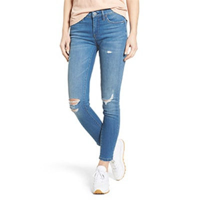 Ripped Ankle Skinny Jeans