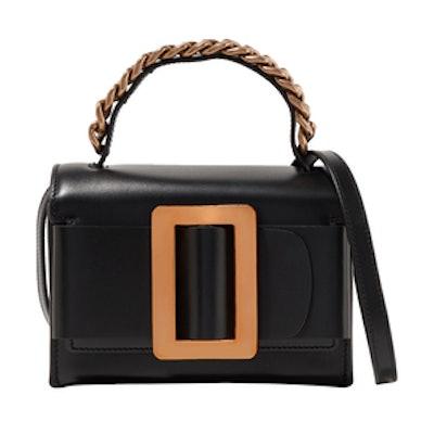 Fred Buckle-Embellished Leather Shoulder Bag