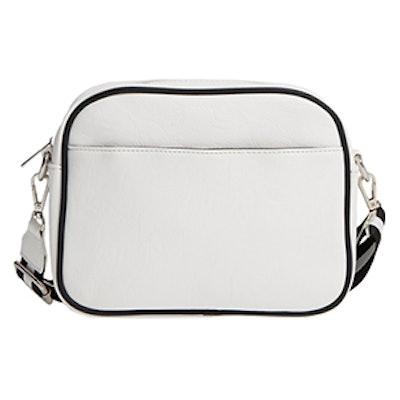 Faux Leather Crossbody Camera Bag
