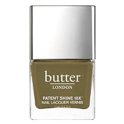Patent Shine Nail Lacquer In British Khaki