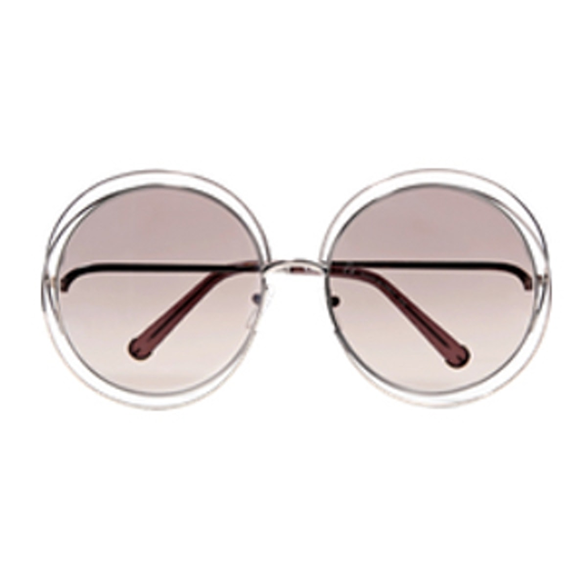 Carlina Round-Frame Gold-Tone Sunglasses