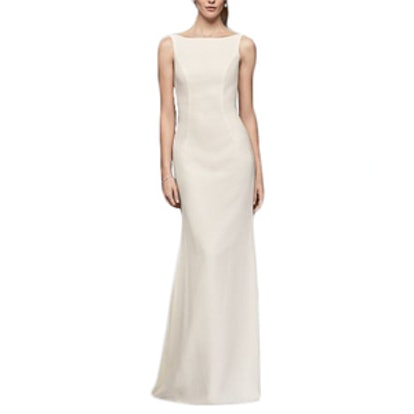 Crepe Sheath Wedding Dress