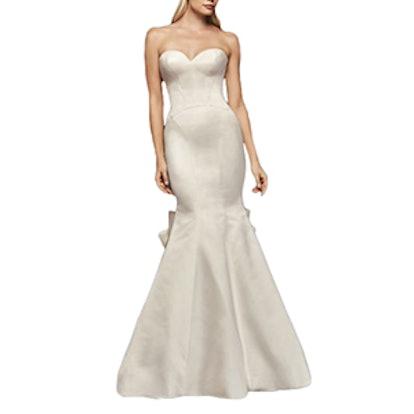 Seamed Satin Wedding Dress