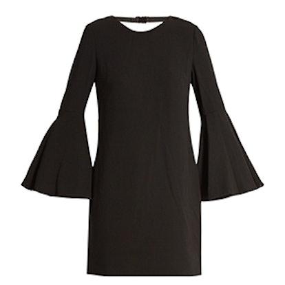 Aurora Fluted-Sleeve Dress