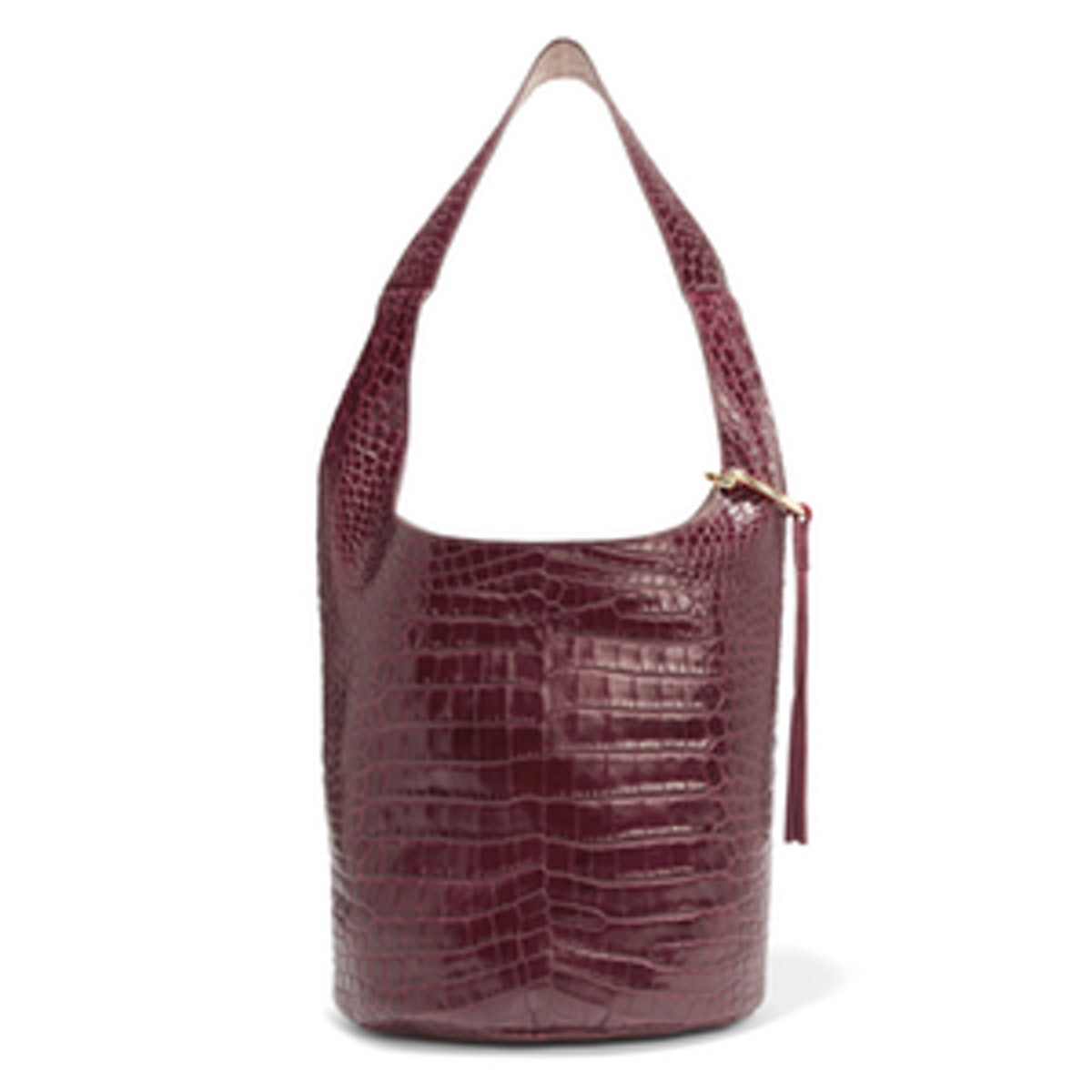 Finley Courier Croc-Effect Leather Shoulder Bag