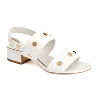 Florence Studded Snake-Embossed Leather Sandals