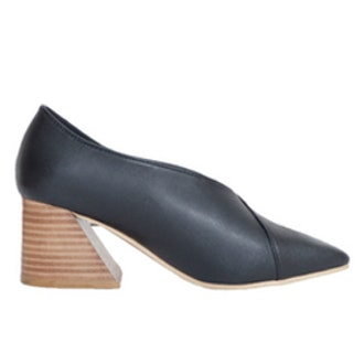 Black Stacked Heel Shoes