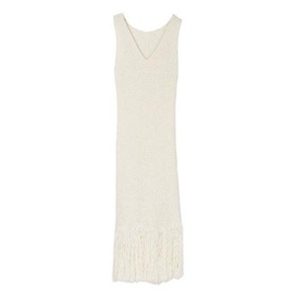 Fringed Hem Knit One-Piece Dress