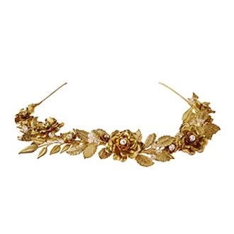 Gilded Rosa Headpiece
