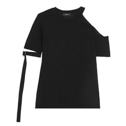 Cold-Shoulder Knitted T-Shirt