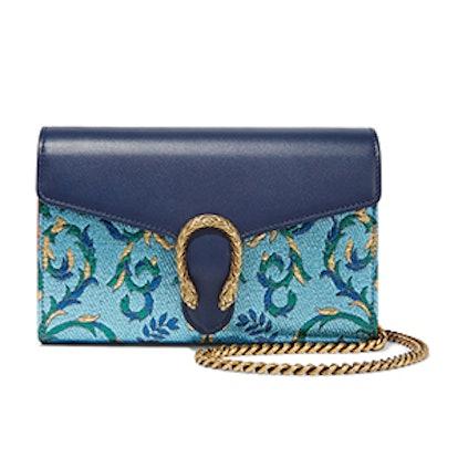 Dionysus Metallic Brocade And Leather Shoulder Bag