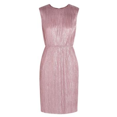 Plissé Lamé Mini Dress