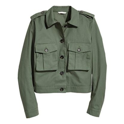 Green Crop Jacket