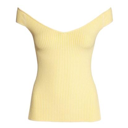 Yellow Ribbed Top