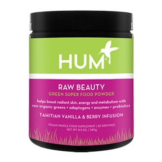 Raw Beauty Green Super Food Powder Tahitian Vanilla & Berry Infusion