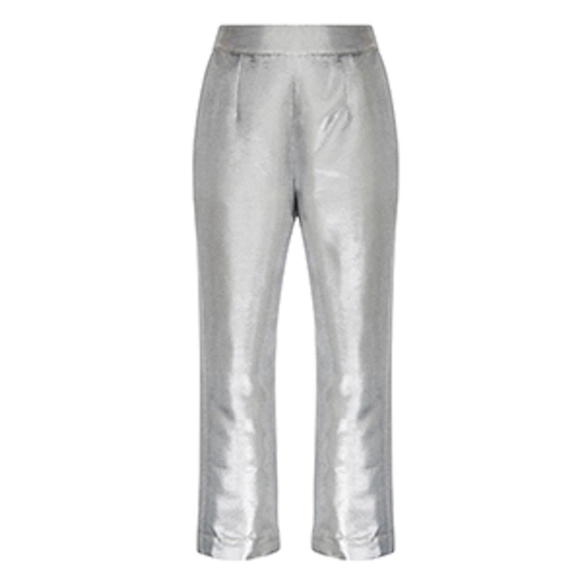 Metallic Cropped Pants