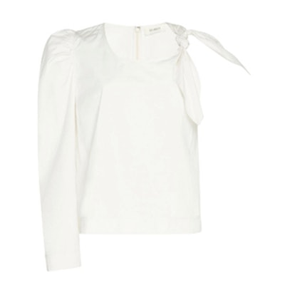 One Sleeve Knot Top