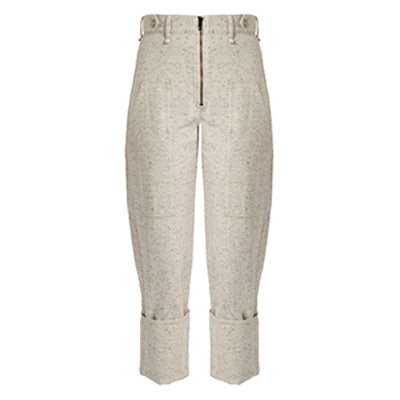 Eugenie High-Rise Peg-Leg Denim Trousers