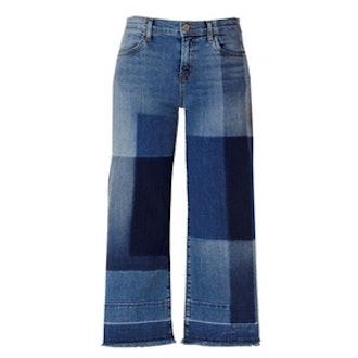 Patchwork Culotte Jeans in Optimum