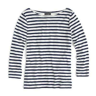 Striped Boatneck T-Shirt
