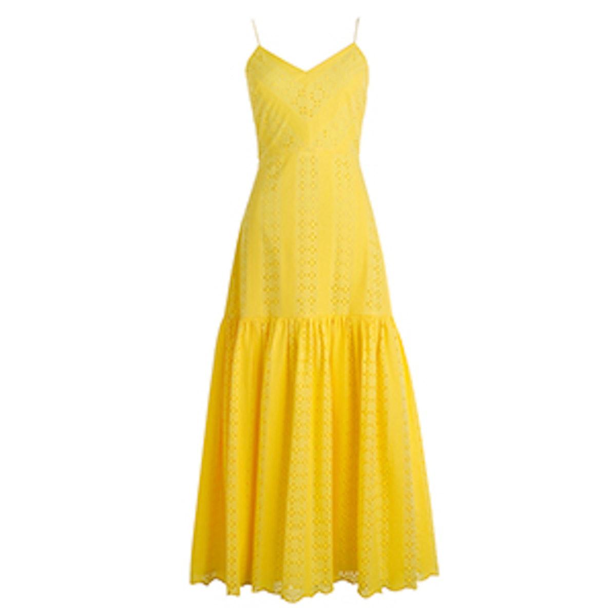 Tiered Spaghetti-Strap Midi Dress