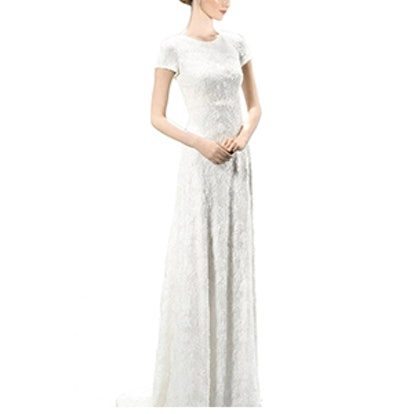 Embellished Embroidered Cap Sleeve Dress