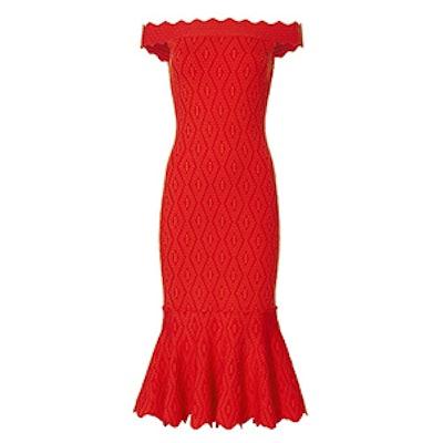 Diamond Knit Trumpet Dress