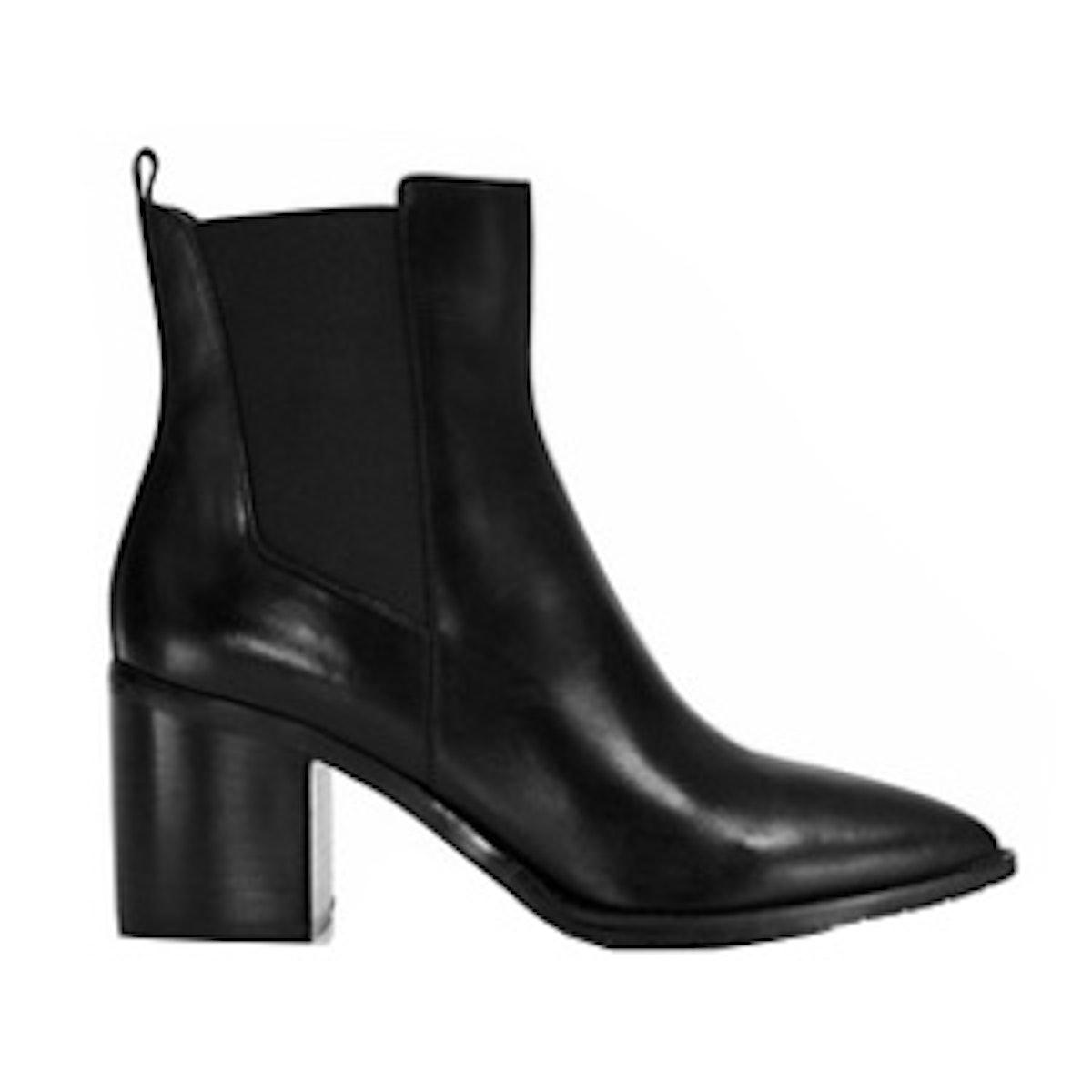 Quinley Pointed Toe Block Heel Booties
