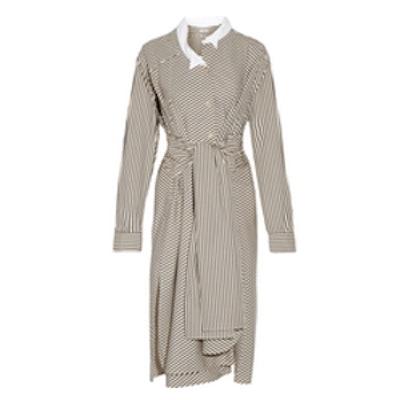 Striped Cotton-Poplin Shirt Dress