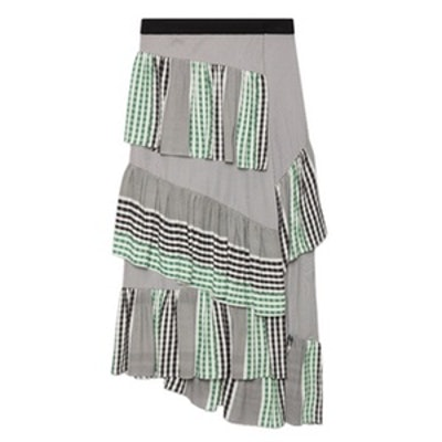 Midi Frilled Skirt