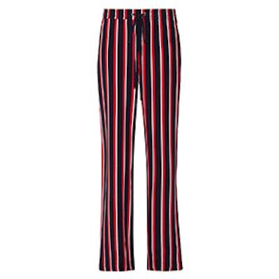 Agnes Striped Silk-Chiffon Wide-Leg Pants