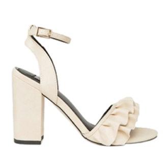 Ruffle Heeled Sandal