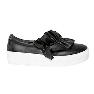 Ruffle Detail Slip On Sneaker