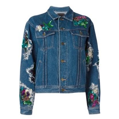 Floral Patches Denim Jacket