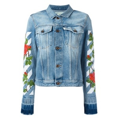 Roses Embroidery Denim Jacket