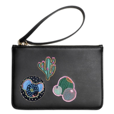 Patched Leather Purse
