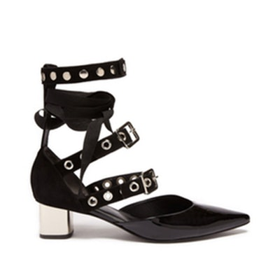 Susa Patent Leather and Suede Pumps