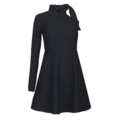 Sammy One Shoulder Black Knot Tie Dress