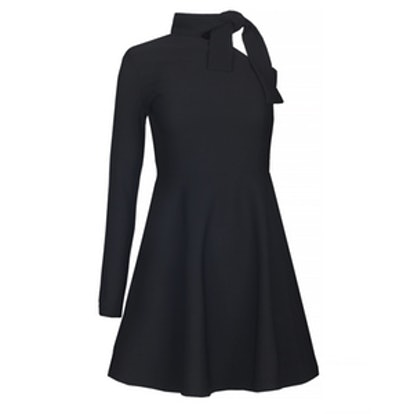Sammy One Shoulder Black Knot Tie Dress