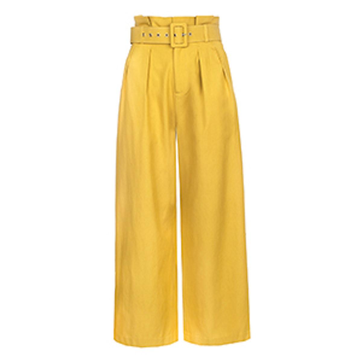 Paperbag Belted Waist Pants