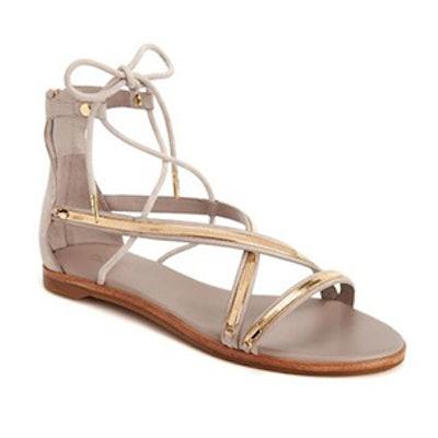 Babette Suede Lace-Up Sandals