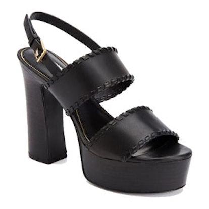 Halina Leather Platform Sandals