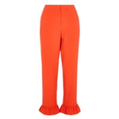 Frill Hem Cropped Pants