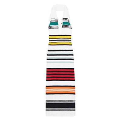 Striped Cotton Halterneck Maxi Dress